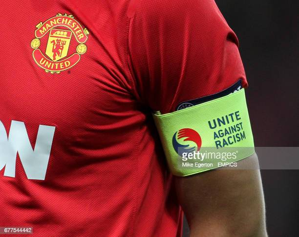 Manchester United's Rio Ferdinand wears a unite against racism captains armband