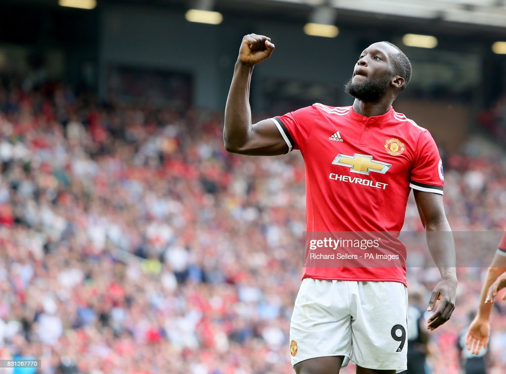 Manchester United's Romelu Lukaku celebrates during the Premier League match at Old Trafford, Manchester.