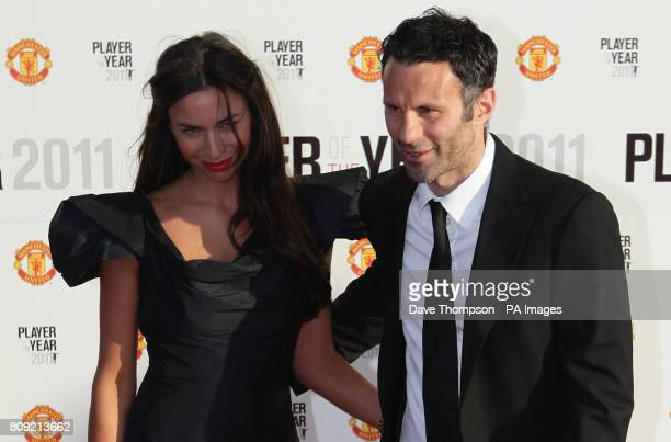 Manchester United's Ryan Giggs arrives with his wife Stacey for Manchester United 2011 Player of the Year award at Old Trafford Manchester