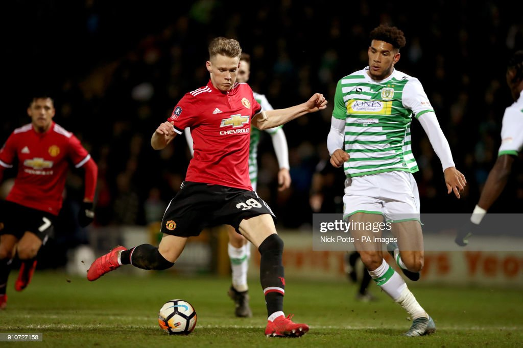 Yeovil Town v Manchester United - Emirates FA Cup - Fourth Round - Huish Park : News Photo