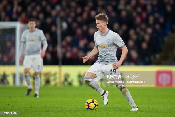 Manchester United's Scott McTominay in action during the Premier League match between Crystal Palace and Manchester United at Selhurst Park on March...