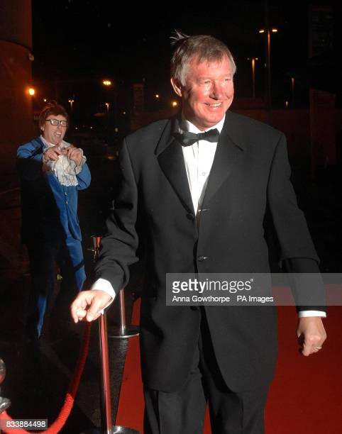 Manchester United's Sir Alex Ferguson arrives for the 'United for UNICEF' Gala Dinner at Old Trafford Manchester