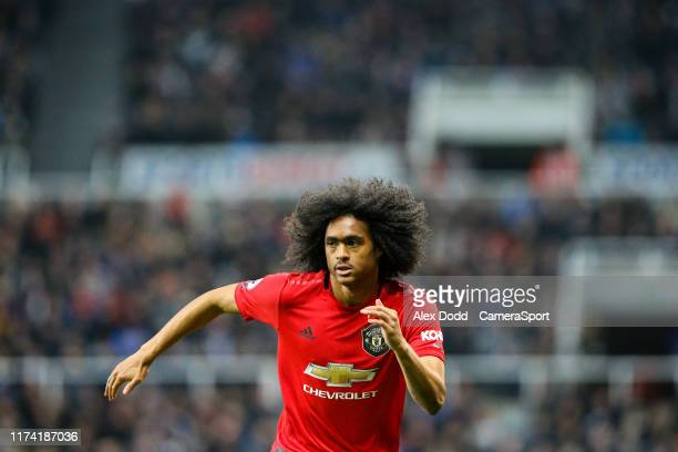Manchester United's Tahith Chong during the Premier League match between Newcastle United and Manchester United at St. James Park on October 6, 2019...