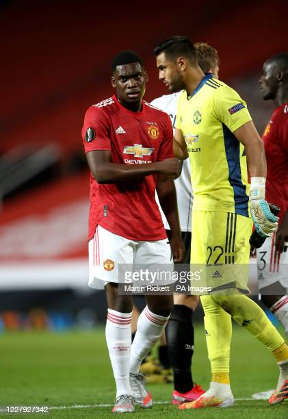 Manchester United's Teden Mengi during the UEFA Europa League round of 16 second leg match at Old Trafford Manchester Wednesday August 5 2020 See PA...