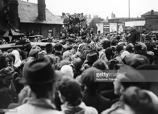 Manchester Winston Churchill During His Election Campaign Tour 1945