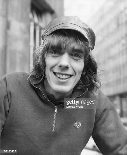 Manchesterbased disc jockey Dave Eager outside Broadcasting House London before taking over Tony Blackburn's BBC Radio 1 morning show while Blackburn...