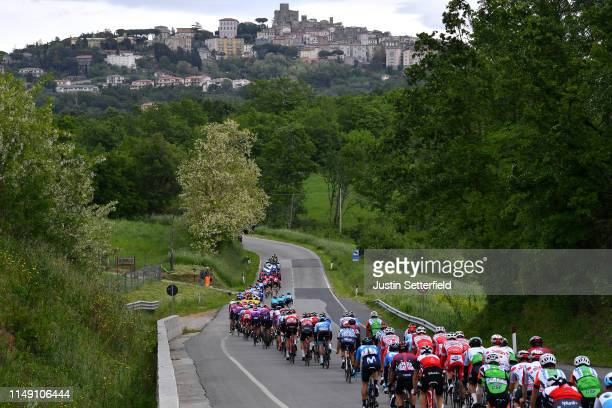 Manciano Village / Peloton / Landscape / Peloton / during the 102nd Giro d'Italia 2019 Stage 4 a 235km stage from Orbetello to Frascati 319m / Tour...