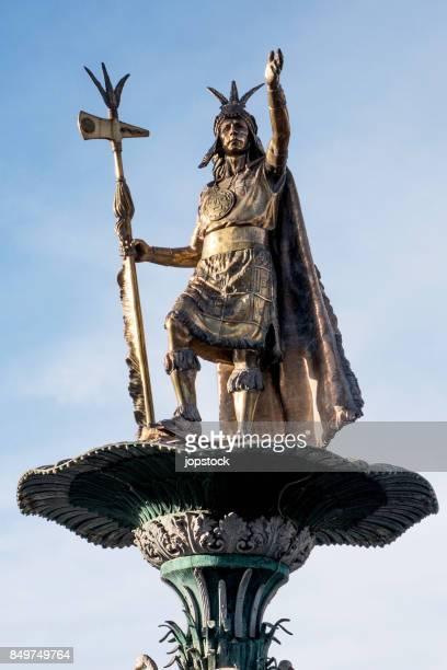 Manco Capac Statue, Monument of the Inca in Cusco, Peru