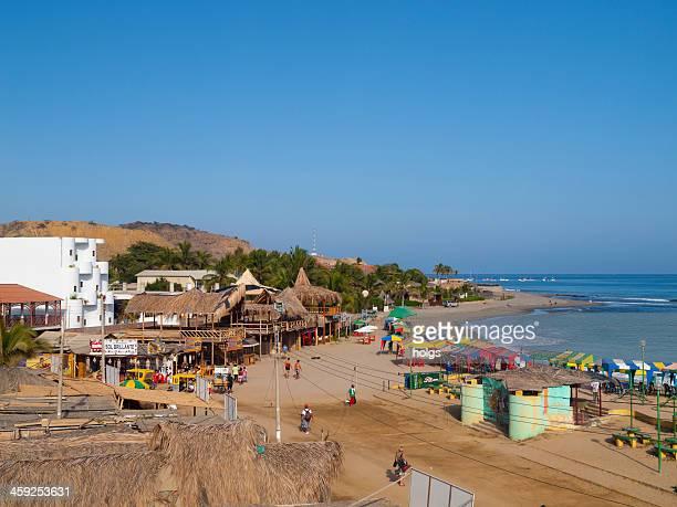 mancora perú, popular del norte de la playa - mancora fotografías e imágenes de stock