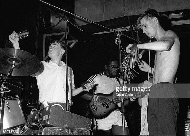 Mancunian pop group A Certain Ratio performing at the Heaven nightclub London 7th September 1981