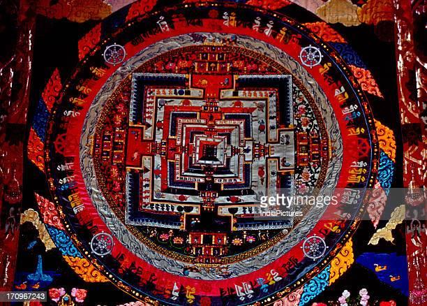 Mandala at the Ki Gompa Kalachakra Spiti Valley Himachal Pradesh India