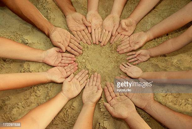 Mandala of 14 Hands