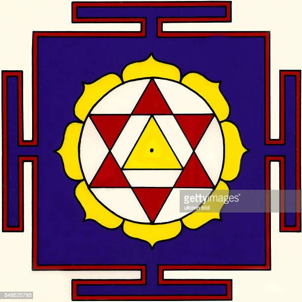 Mandala rituelles Diagramm Hinduismus Tantrismus Meditation Kraftsymbole