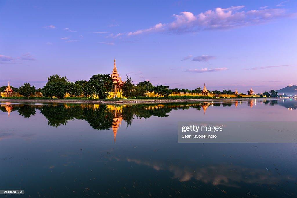 Mandalay Palace Moat : Stock Photo