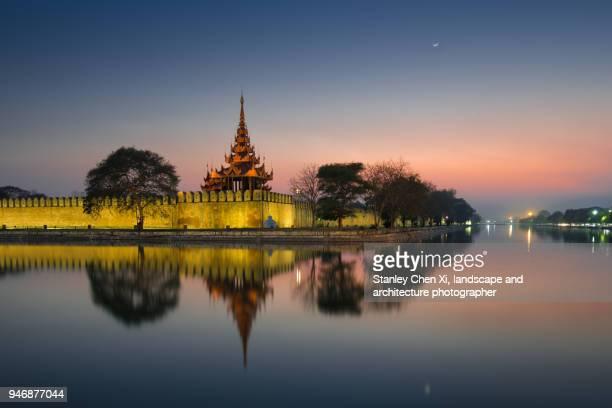 Mandalay Royal Palace Night View