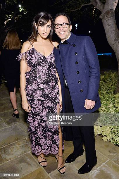 Mandana Dayani and Peter Traugott attend PSLA partners with Carolina Herrera for Winter Gala on January 26 2017 in Beverly Hills California