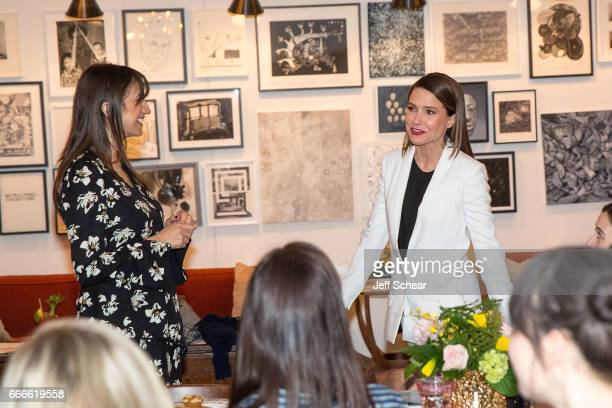 Mandana Dayani and Sophia Bush attend Sophia Bush and EBTH host an intimate brunch to celebrate Chicago's top design tastemakers at Soho House...