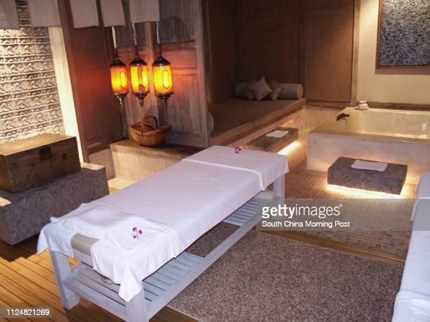A treatment room at Mandara Spa at the Sheraton Sanya Resort Yalong Bay National Resort District Sanya Hainan Island China
