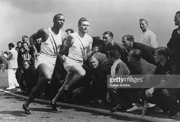 AND FRANK WYKOFF OF THE UNITED STATES IN ACTION DURING A TRAINING PRACTICE FOR THE 1936 OLYMPICS IN BERLIN Mandatory Credit Allsport Hulton/Archive