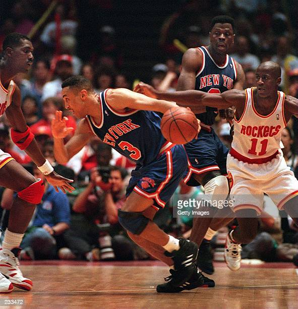 AS ROCKET VERNON MAXWELL PURSUES DURING THE SECOND QUARTER OF GAME 7 IN THE NBA CHAMPIONSHIP AT THE SUMMIT IN HOUSTON Mandatory Credit...