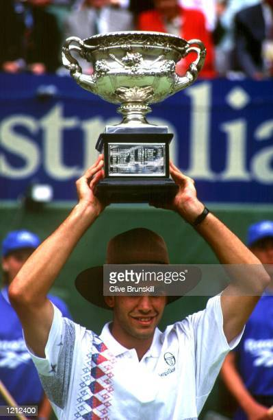 64 64 SAMPRAS HAS NOW WON THREE OF THE FOUR GRAND SLAM TITLES Mandatory Credit Clive Brunskill/ALLSPORT