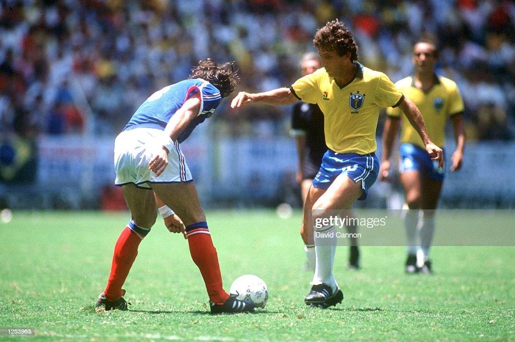 BRAZIL V FRANCE/ZICO : News Photo