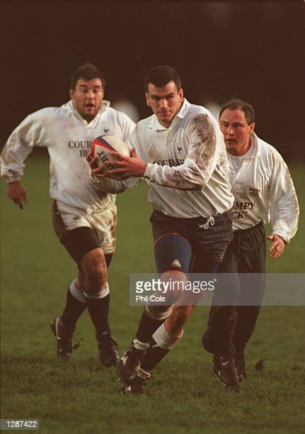 AND JASON LEONARD DURING THE ENGLAND RUGBY TRAINING SESSION AT RICHMOND RUGBY GROUND IN LONDON Mandatory Credit Phil Cole/ALLSPORT