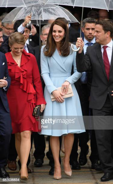 Photo by Tim Rooke/REX/Shutterstock Catherine Duchess of Cambridge Duchess Stephanie of Luxembourg Hereditary Grand Duke Guillaume of Luxembourg...
