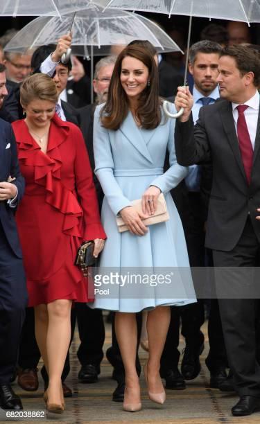 Photo by Tim Rooke/REX/Shutterstock Catherine Duchess of Cambridge Duchess Stephanie of Luxembourg Hereditary Grand Duke Guillaume of Luxembourg...