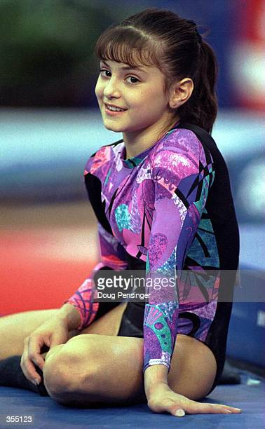 KAROLYI''S GYMNASTICS TAKES A BREATHER DURING THE JUNIOR WOMEN''S US NATIONAL GYMNASTICS CHAMPIONSHIPS AT THE MUNICIPAL AUDITORIUM IN NASHVILLE TN...