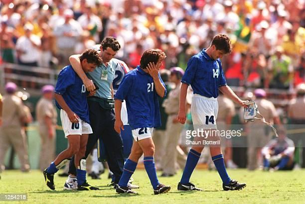 BRAZIL 0 0 IN THE 1994 WORLD CUP FINAL AT THE ROSE BOWL IN PASADENA CALIFORNIA Mandatory Credit Shaun Botterill/ALLSPORT