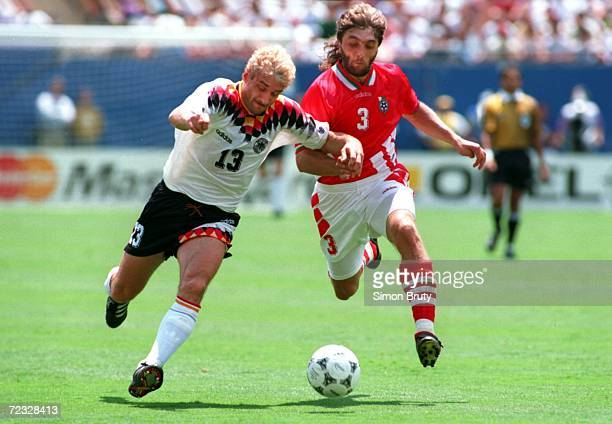 S 21 VICTORY OVER GERMANY IN THE QUARTER FINALS OF THE 1994 WORLD CUP AT GIANTS STADIUM IN THE MEADOWLANDS NEW JERSEY Mandatory Credit Simo