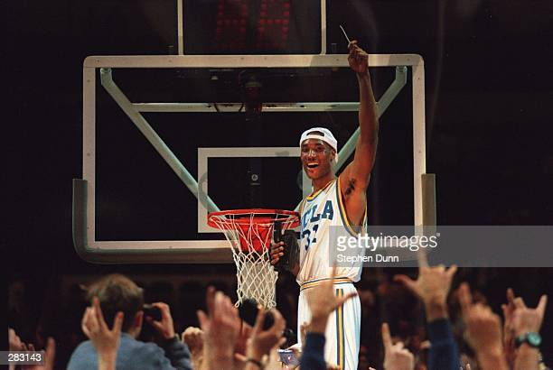 O''BANNON OF UCLA CUTS DOWN THE NET AFTER UCLA DEFEATED UCONN IN THE WEST REGIONAL FINAL AT THE OAKLAND COLISEUM IN OAKLAND CALIFORNIA Mandatory...