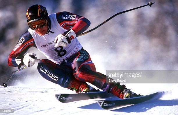 MEN''S SUPERG AAMODT FINISHED THIRD TO TAKE THE BRONZE MEDAL IN THE 1994 WINTER OLYMPICS IN LILLEHAMMER Mandatory Credit Steve Powell/ALLSPORT