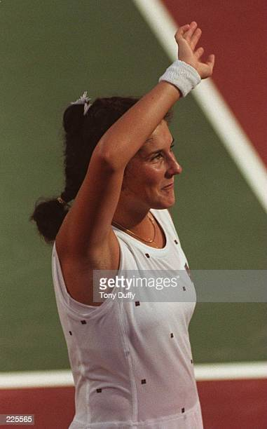 SELES'' FIRST TOURNAMENT MATCH SINCE HER RETURN TO PROFESSIONAL TENNIS Mandatory Credit Tony Duffy/ALLSPORT