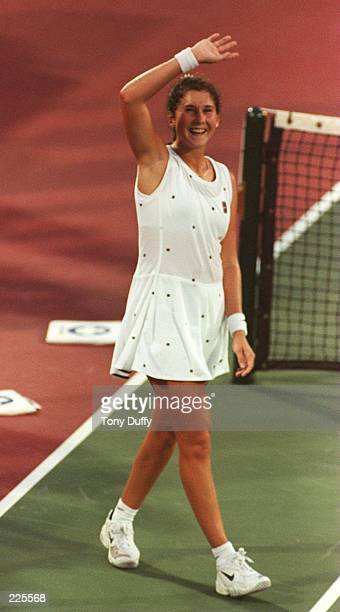SELLES'' FIRST TOURNAMENT MATCH SINCE HER RETURN TO PROFESSIONAL TENNIS Mandatory Credit Tony Duffy/ALLSPORT