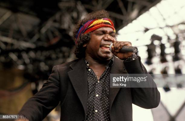 Mandawuy Yunupingu from YOTHU YINDI performs live on stage in Sydney, Australia circa 1980.