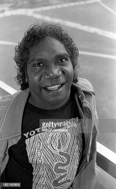 Mandawuy Yunupingu, singer of Yothu Yindi, portrait, London , United Kingdom, 1991.