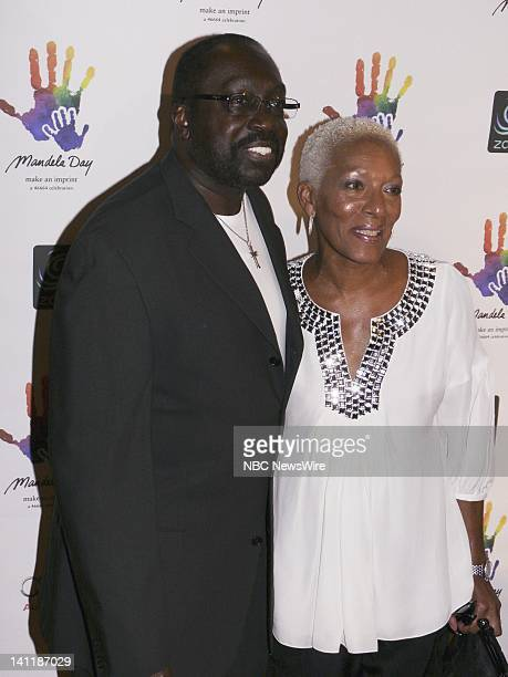 NBC NEWS Mandela Day Gala Dinner Pictured Former professional NBA basketball player Earl Monroe and wife Marita Green Monroe arrive at Vanderbilt...