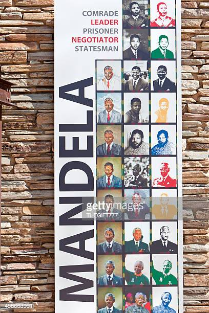 mandela poster at the apartheid museum - apartheid museum stock pictures, royalty-free photos & images