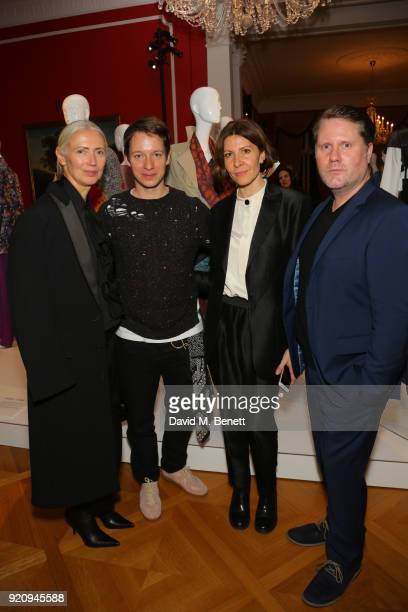 Mandie Bienek Damir Doma Scott Lipinski and Editor in Chief Vogue Germany Christiane Arp attend 'An Evening of German Fashion' at the German Embassy...