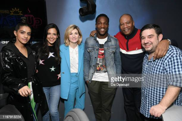 Mandip Gill, Nicole Ryan, Jodie Whittaker, Tosin Cole, Stanley T, and Ryan Sampson at SiriusXM Studios on January 06, 2020 in New York City.