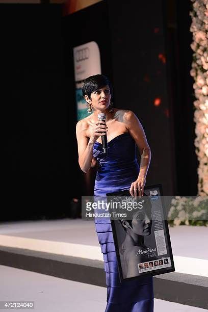 Mandira Bedi TV actor and anchor after being awarded Delhi's Most Stylish for 2015 during the Hindustan Times Delhis Most Stylish 2015 award function...