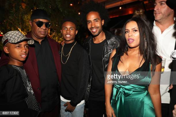 Mandla Kadjay Carl Stevland Morris Stevie Wonder Kailand Morris Kwame Morris Kai Millard Morris and Mark Birnbaum attend the Republic Records GRAMMY...