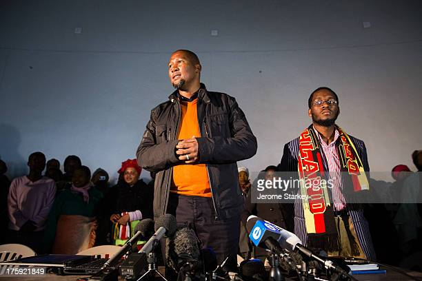 Mandla Mandela at a press conference in Mvezo, in South Africa's Eastern Cape, July 4 at which he accused his relatives of ganging up against him to...