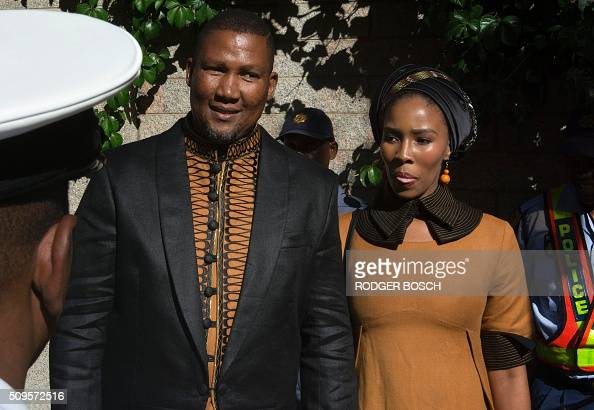 Mandla Mandela, Nelson Mandela's grandson, arrives with ...