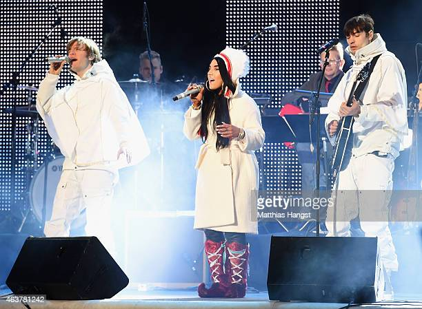 Mando Diao perform during the Opening Ceremony of the FIS Nordic World Ski Championships at the Lugnet venue on February 18 2015 in Falun Sweden