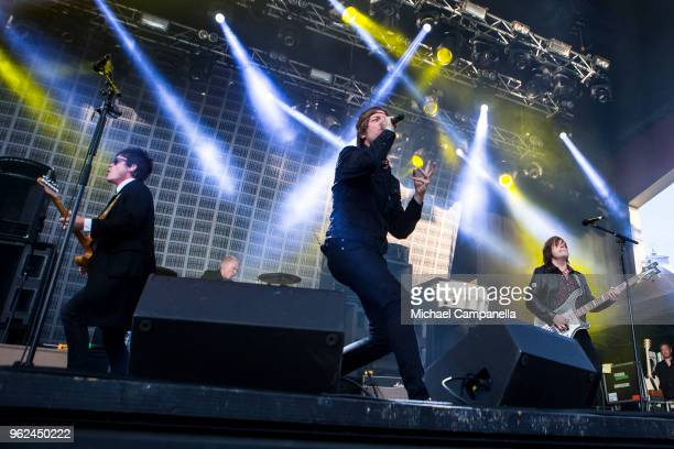 Mando Diao performs in concert at Grona Lund on May 25 2018 in Stockholm Sweden