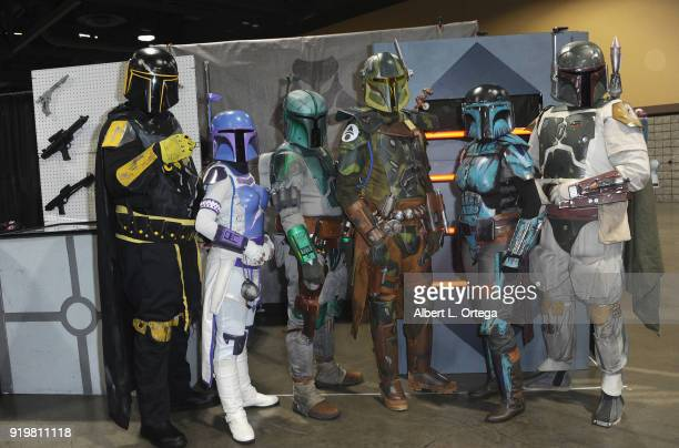 Mandolorians attend day 1 of the 8th Annual Long Beach Comic Expo held at Long Beach Convention Center on February 17 2018 in Long Beach California