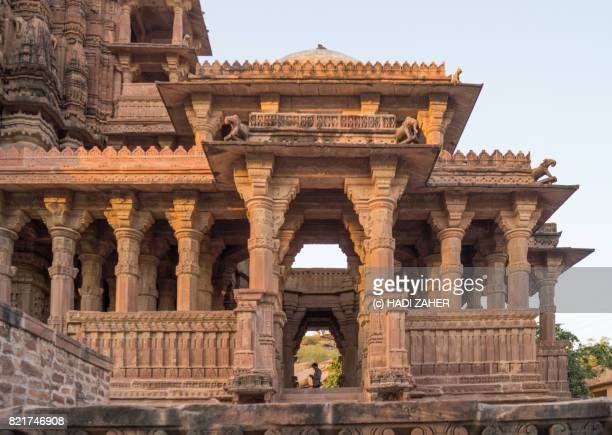 mandore garden temples and cenotaphs | jodhpur | rajasthan | india - jain temple stock photos and pictures